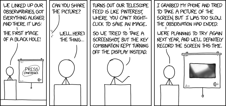 2133: EHT Black Hole Picture - explain xkcd