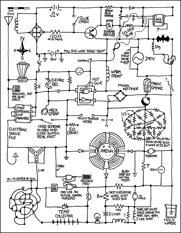 730 circuit diagram explain xkcd circuit diagram i just caught myself idly trying to work out what that resistor mass would actually be