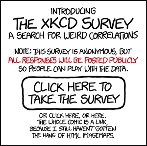 The xkcd Survey: Big Data for a Big Planet