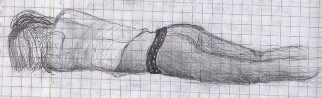 Girl Sleeping Drawing But She Fell Asleep on The