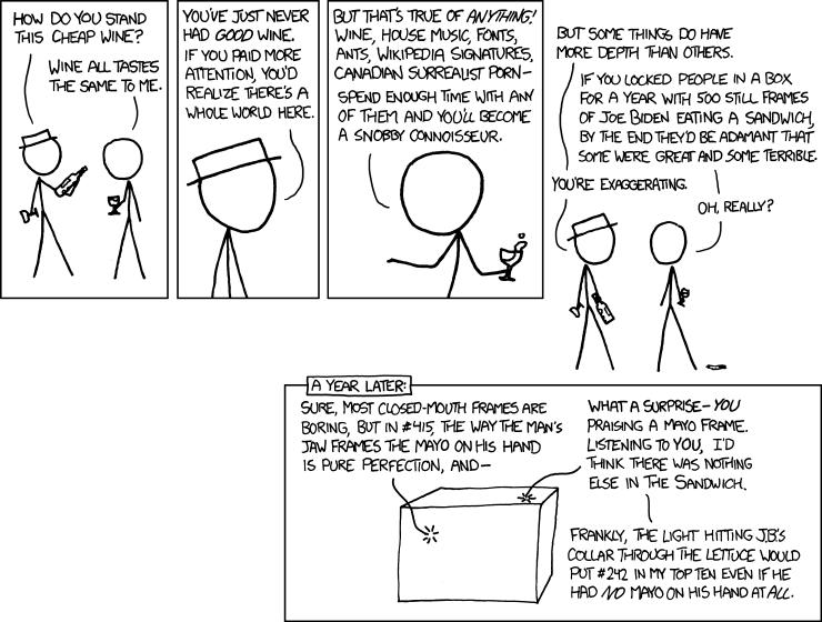 915: Connoisseur - explain xkcd