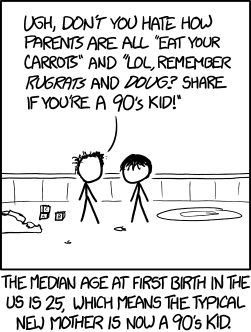 90 Of Parents Think Their Kids Are On >> 1548 90s Kid Explain Xkcd