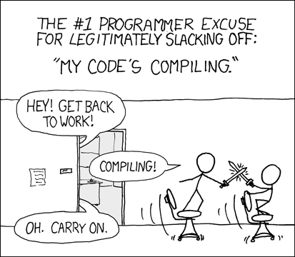 Are you stealing those LCDs?' 'Yeah, but I'm doing it while my code compiles.