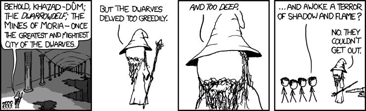 760: moria - explain xkcd - Hobbit Dwarves Coloring Pages