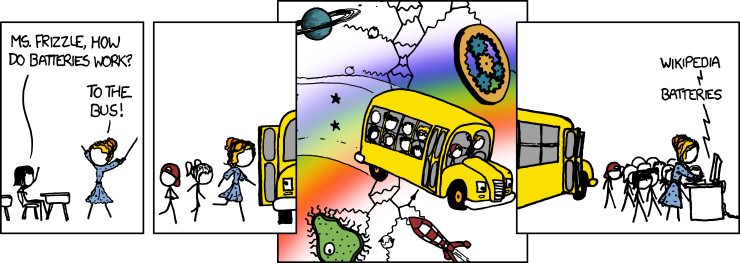 911: Magic School Bus - explain xkcd