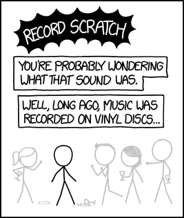 1745: Record Scratch - explain xkcd