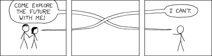 But the past was much too cramped!